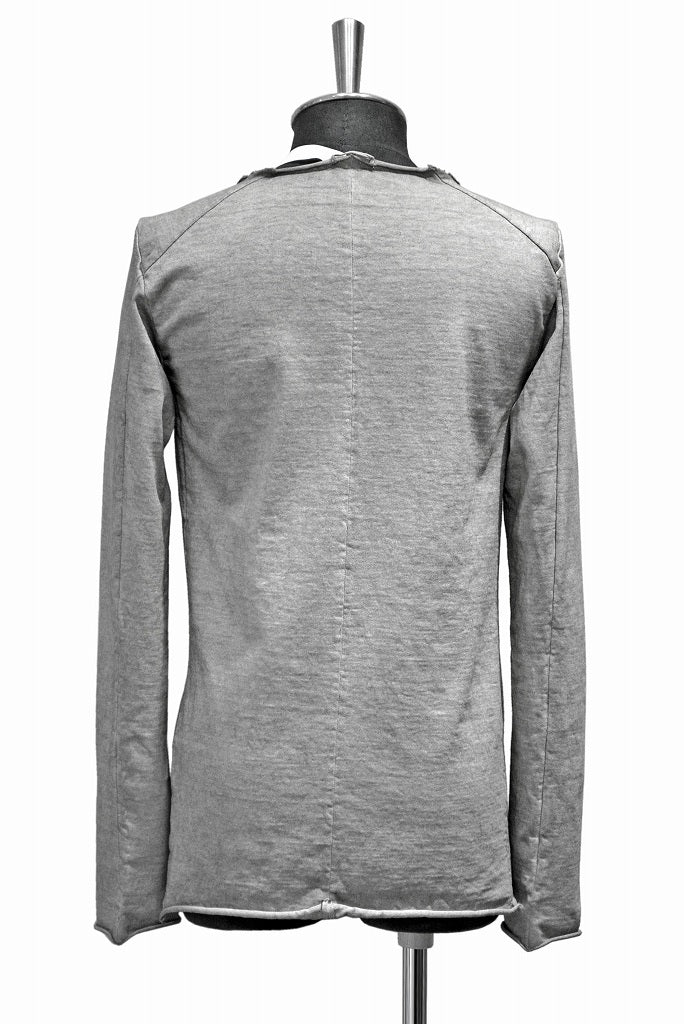 Load image into Gallery viewer, N/07 ls u neck c/heavy jersey sumi dyed (SUMI WHITE)