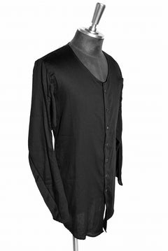 Load image into Gallery viewer, N/07 AIR SATIN COTTON MIDDLE CARDIGAN (BLACK)