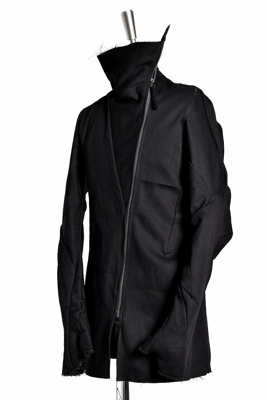 LEON EMANUEL BLANCK DISTORTION STRAIGHT JACKET / LOOSE STITCH (BLACK)