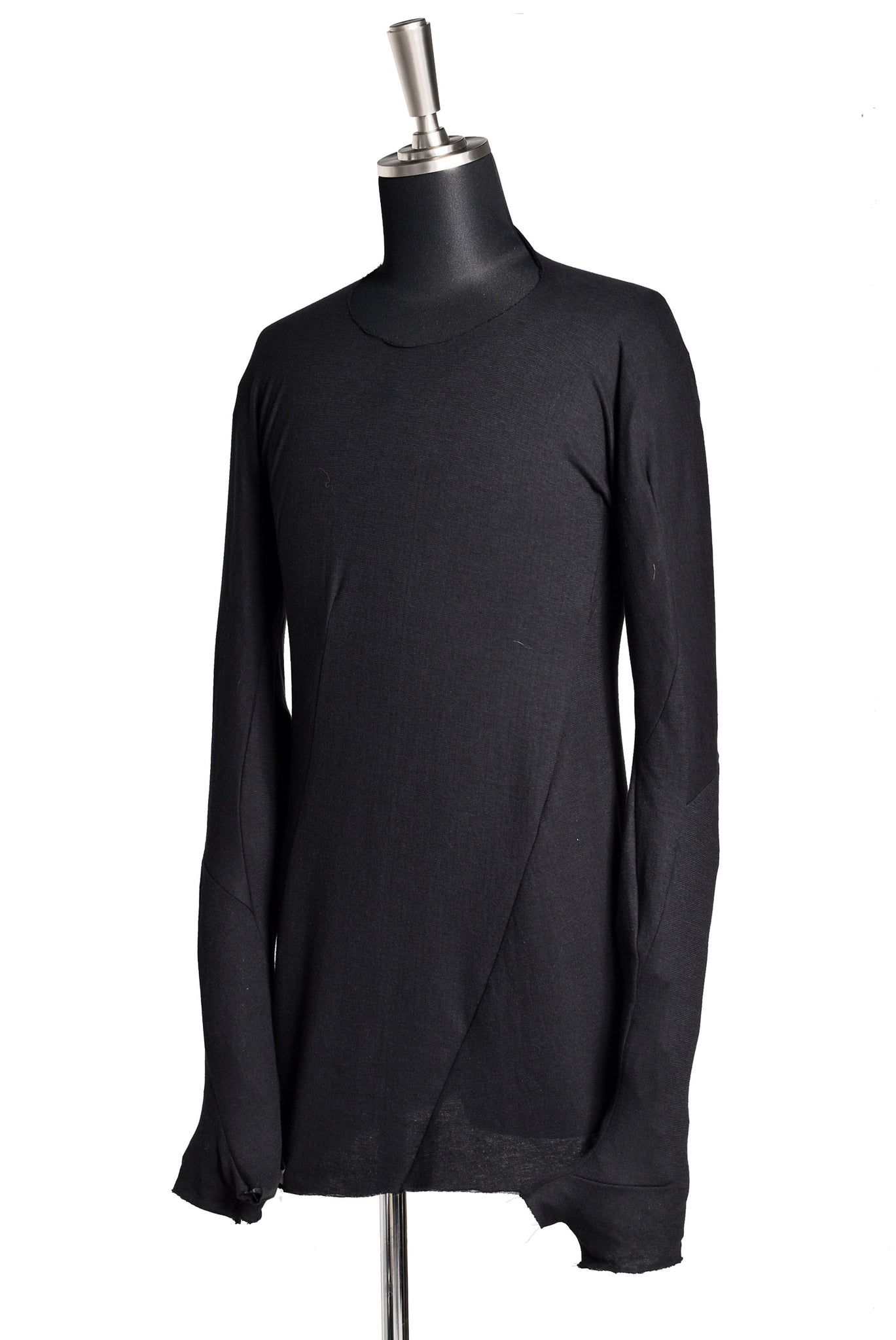 LEON EMANUEL BLANCK DISTORTION GLOVED LS TOPS / DOUBLE JERSEY (BLACK)