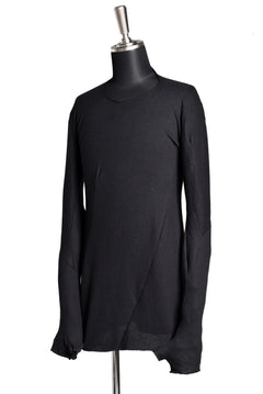 画像をギャラリービューアに読み込む, LEON EMANUEL BLANCK DISTORTION GLOVED LS TOPS / DOUBLE JERSEY (BLACK)