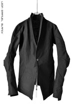 画像をギャラリービューアに読み込む, LEON EMANUEL BLANCK DISTORTION SHORT BLAZER / RAMIE SELFEDGE (BLACK)