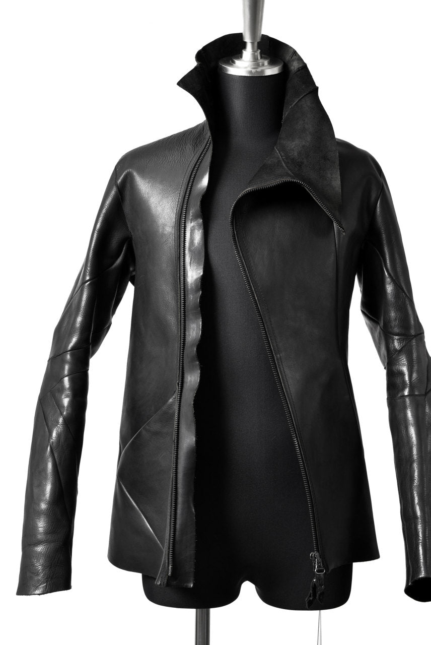 "LEON EMANUEL BLANCK DISTORTION LEATHER JACKET ""GUIDI CALF"" (BLACK)"