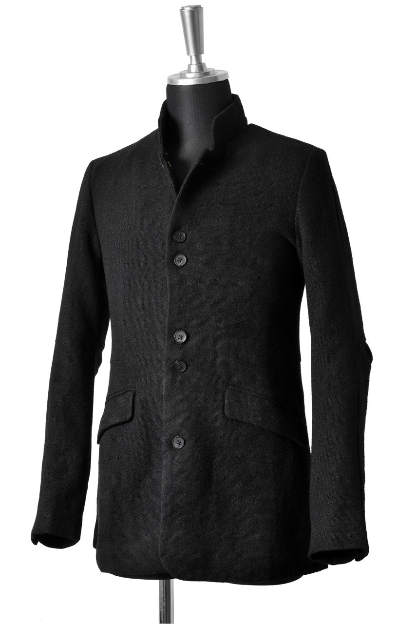 Aleksandr Manamis WOOL/LINEN WOVEN JACKET with ELBOW DETAILS