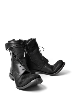"画像をギャラリービューアに読み込む, prtl x 4R4s exclusive Twisted Lace Boots / Cordovan full grain ""No4-5"" (BLACK)"
