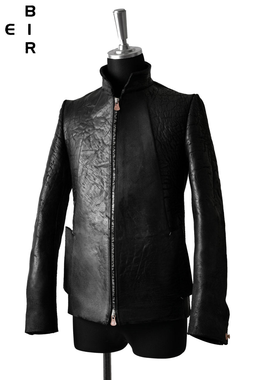 ierib classic zipper jacket / waxy JP culatta *soft finished (BLACK)