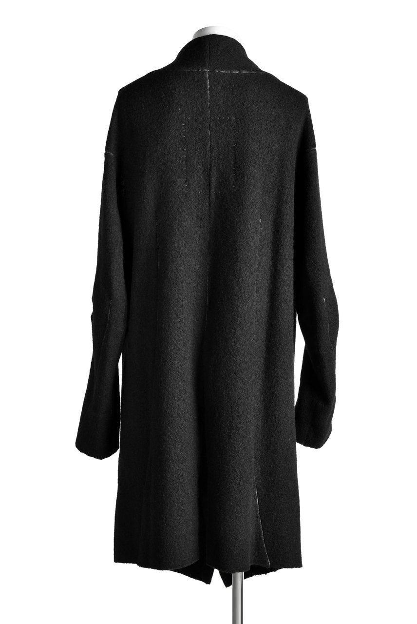 SOSNOVSKA exclusive SOFT STITCHED COAT (BLACK)