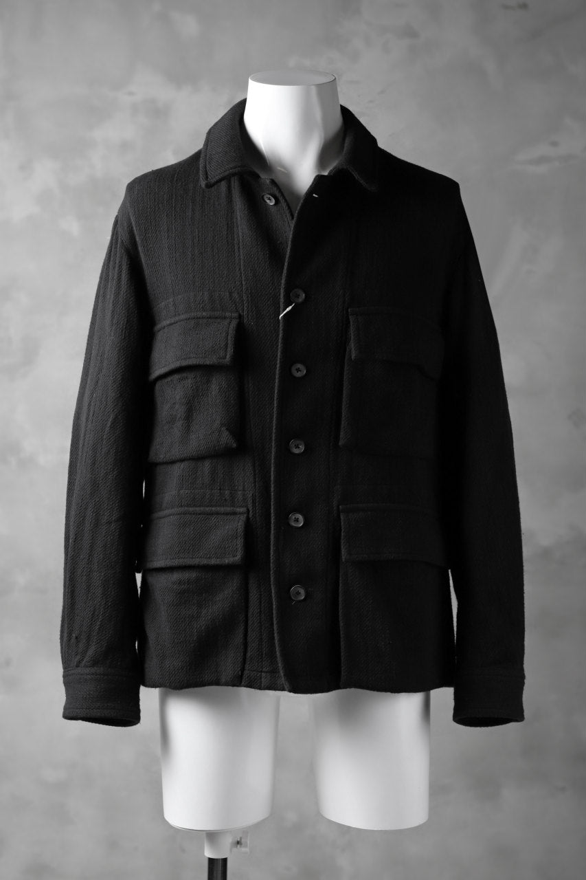 COLINA BDU JACKET / HAND-SPUN COTTON TWILL (BLACK)