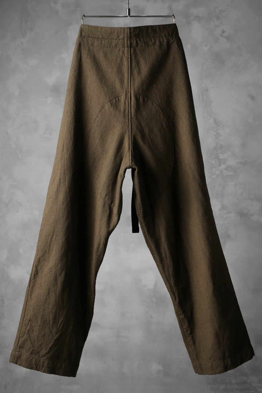 Load image into Gallery viewer, sus-sous wide trousers MK-1 / C60L40 4/1 cloth (BROWN KHAKI)