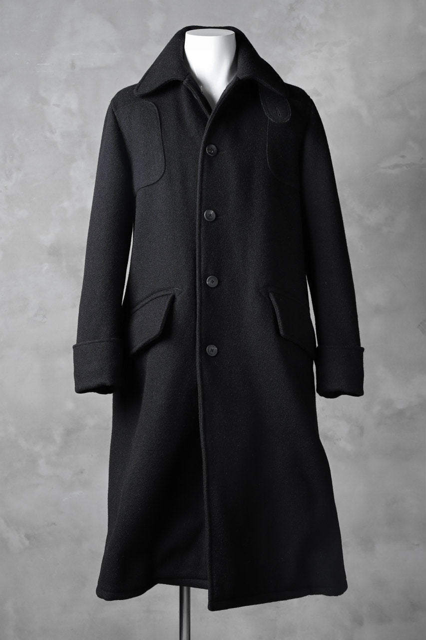 画像をギャラリービューアに読み込む, sus-sous foot guards great coat / W90N10 Raised back melton (NAVY BLACK)