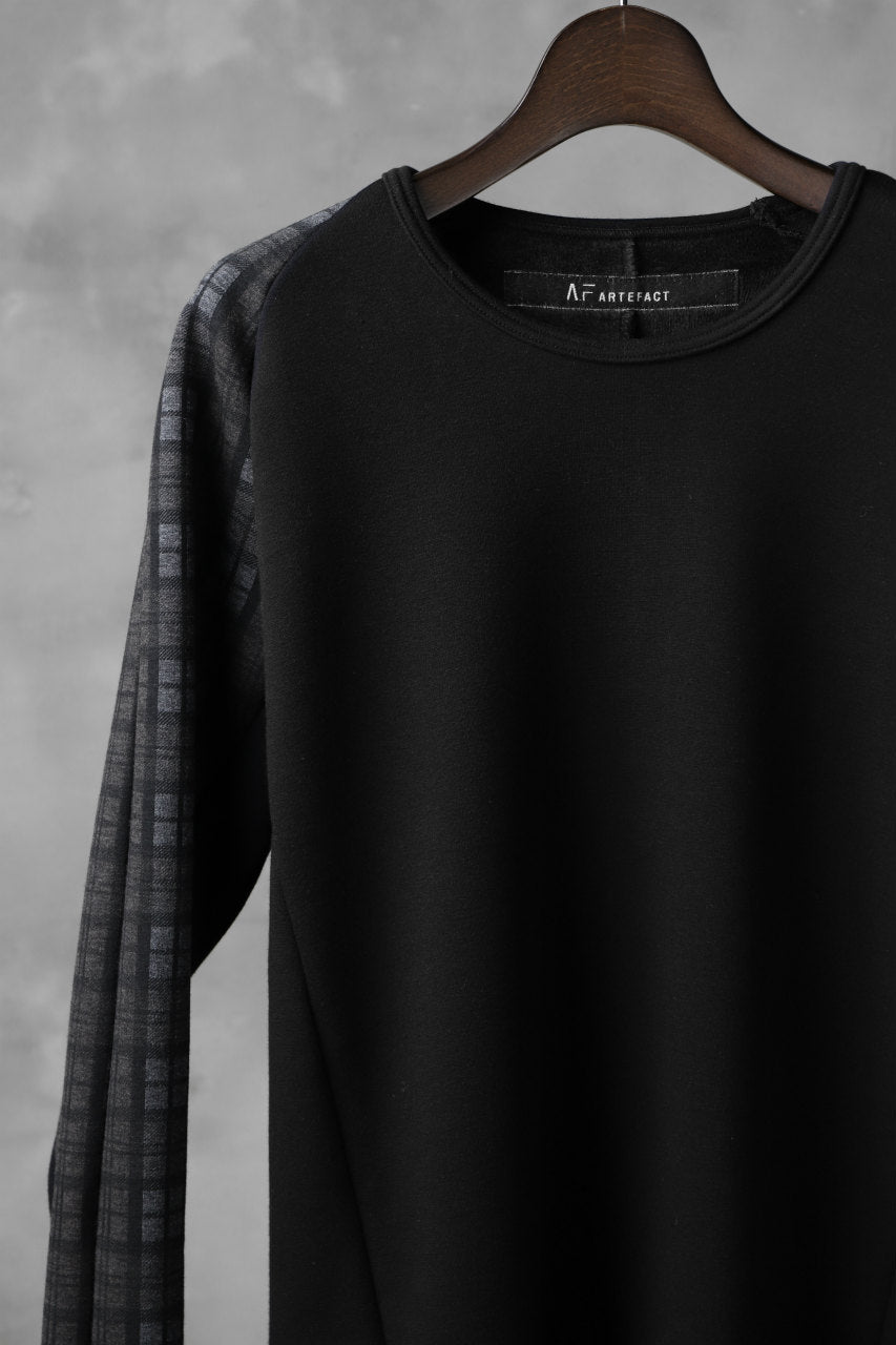 A.F ARTEFACT exclusive BomberHEAT® PLAID RAGLAN TOPS (BLACK×BROWN)