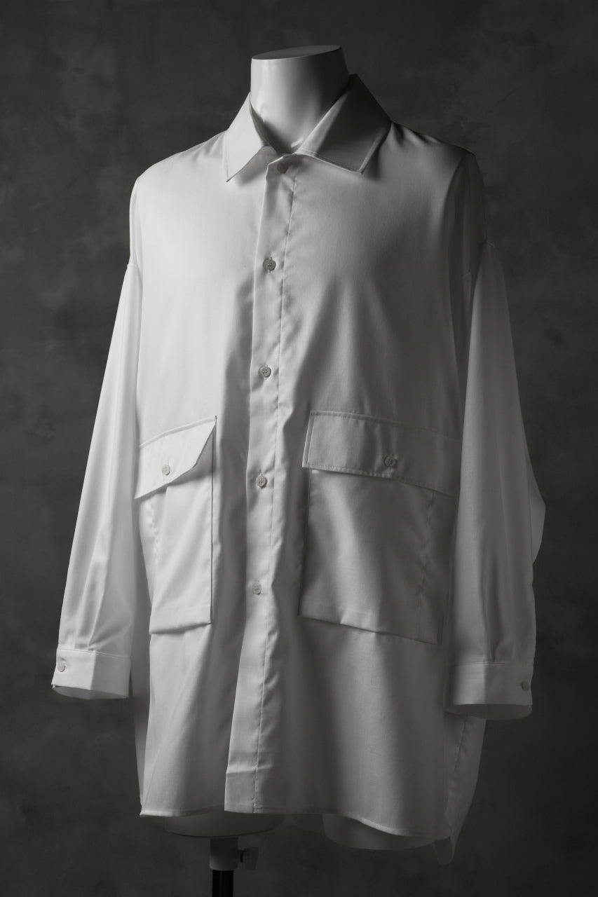 JOE CHIA FLAP POCKET WORK SHIRT (OFF WHITE)
