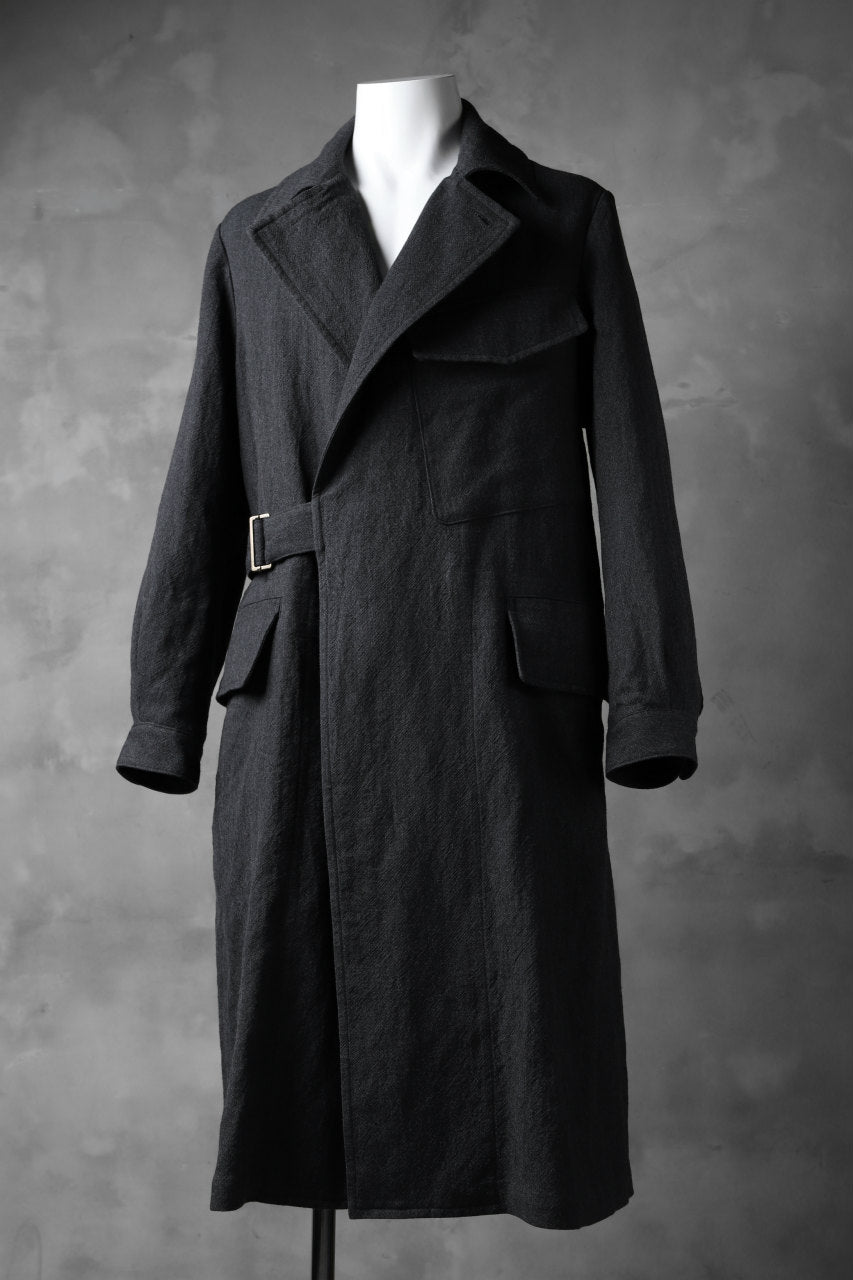 画像をギャラリービューアに読み込む, sus-sous storm coat / W50L50 3/2OX washer (CHARCOAL NAVY)