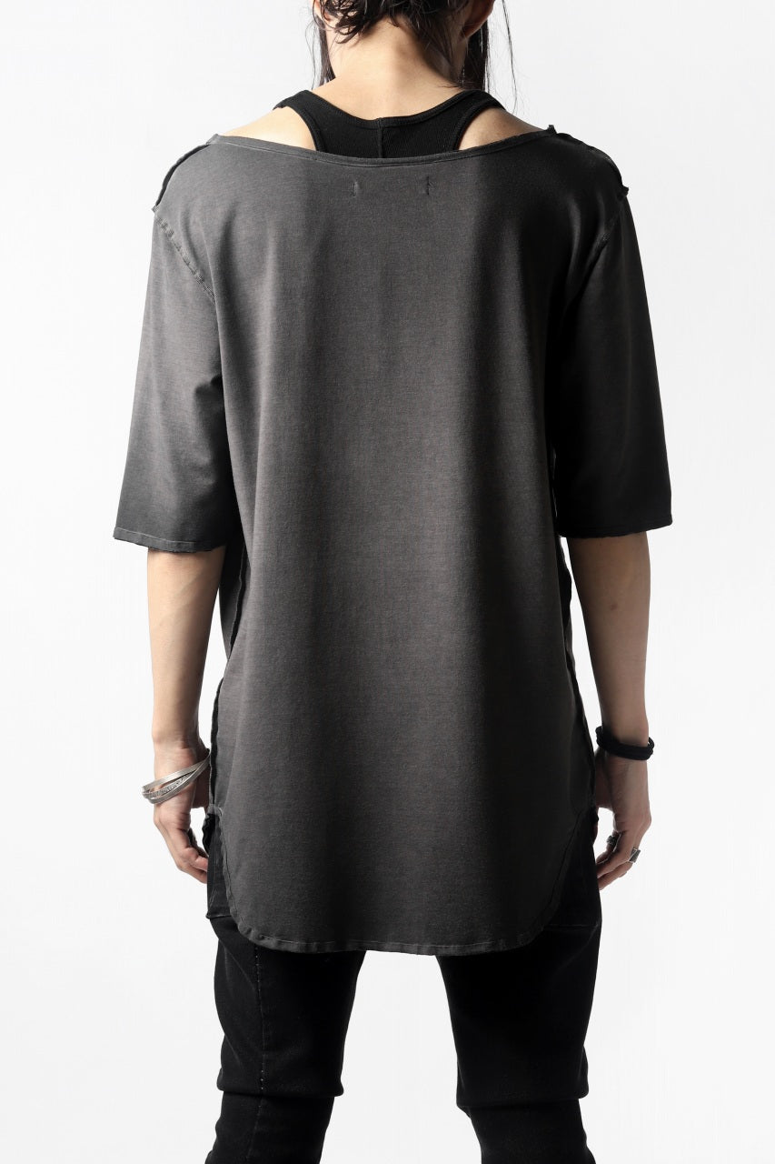Nostra Santissima SMOOTH FIT JERSEY TOPS (REVERSE DYED / GREY)