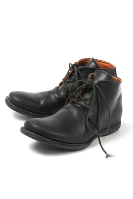 incarnation exclusive HORSE SHELL CORDOVAN 3 HOLES CHACKER BOOTS (BLACK)