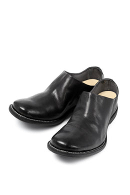 incarnation HORSE LEATHER SLIP ON SHOES #2 (BLACK)