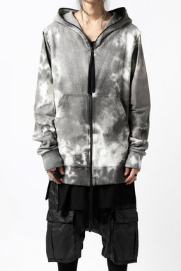 thomkrom DYEING SWITCH ZIPPER HOODIE (MARBLE)