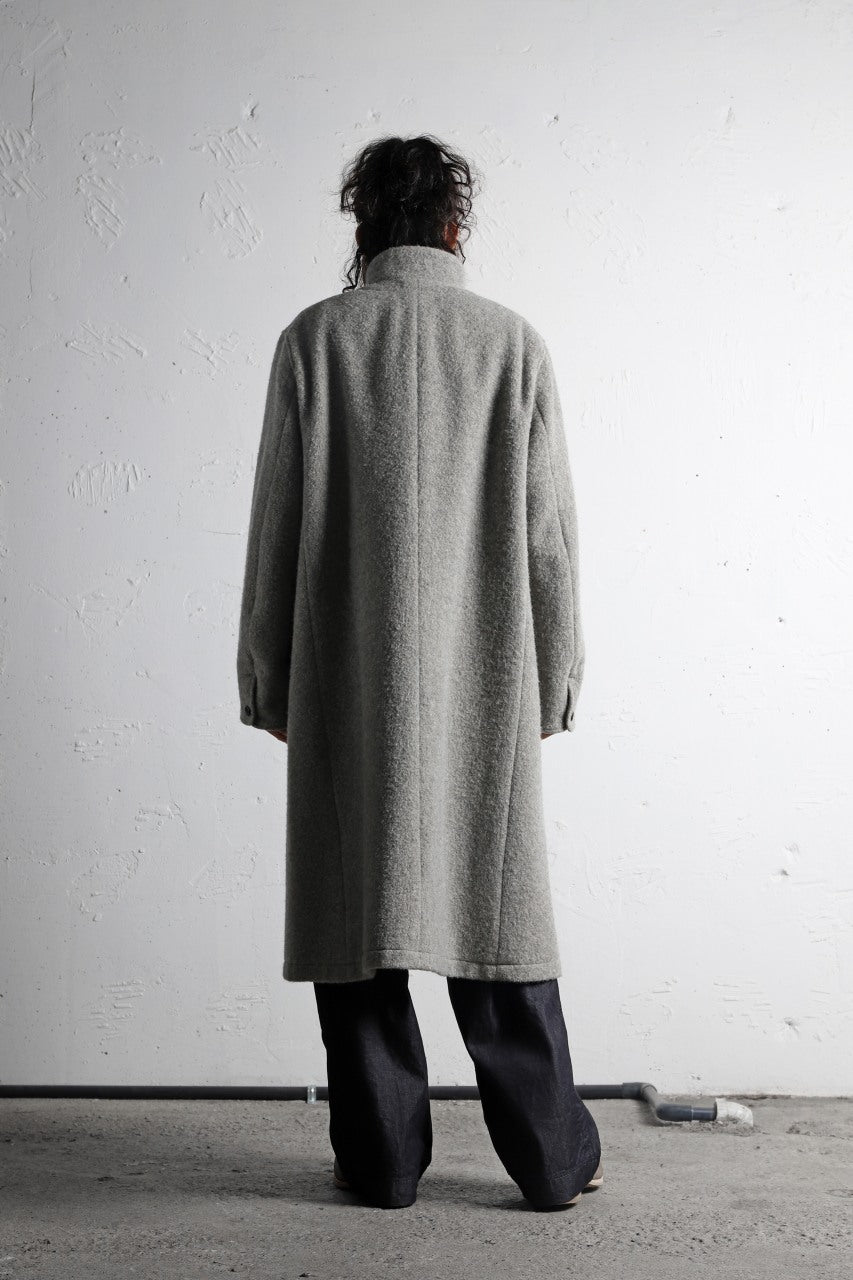 sus-sous medical coat / Napping melton wool (TOP GREY BEIGE)