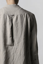 "Load image into Gallery viewer, daska ""tirel"" cock shirt / sun-dried linen (LIGHT GREY)"