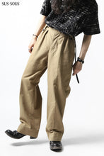Load image into Gallery viewer, sus-sous gurkha trousers yarn dyed OX (BEIGE)