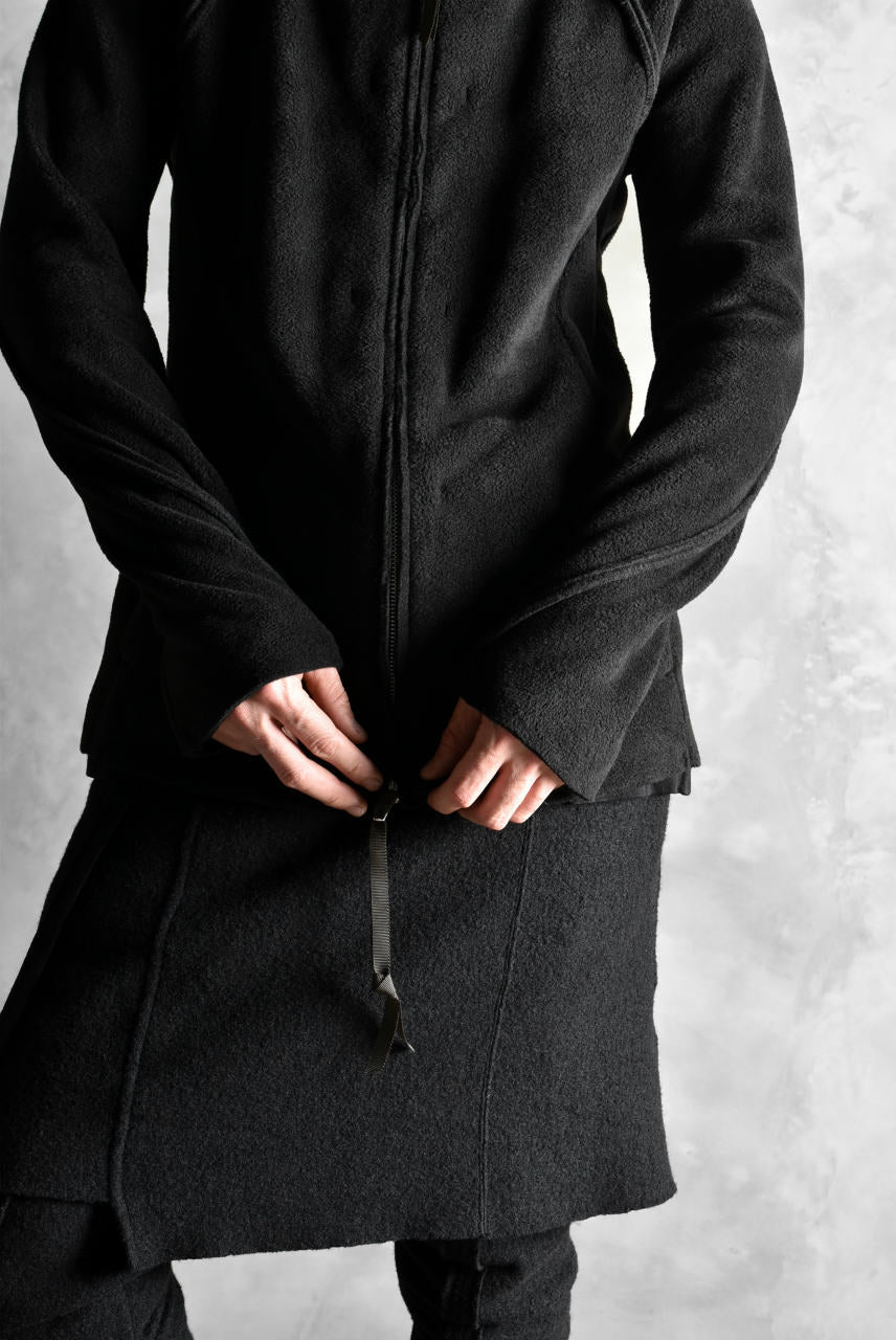 N/07 Rawcut Track Jacket / WARM Fleece Tech (BLACK)