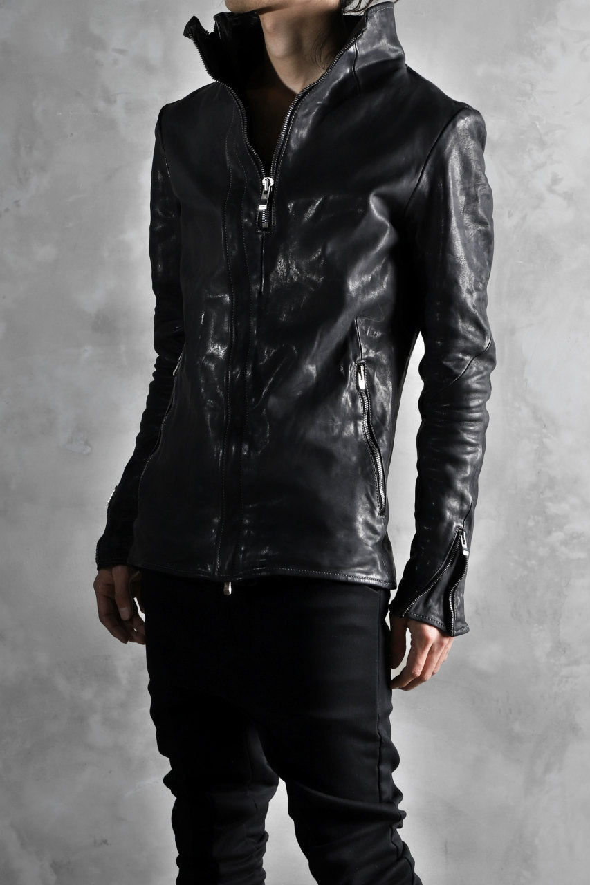 incarnation exclusive DUALFACE ZIP JACKET / OBJECT DYE TANNED HORSE*Stitchless (BLACK)
