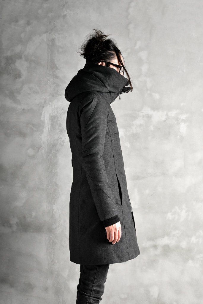 N/07 Mods Down Coat / Salt'npepper Canvas (DARK GREY)