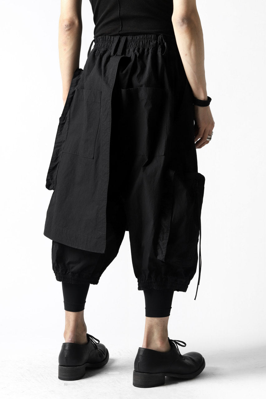A.F ARTEFACT WRAP SKIRT COMBI MILITARY SHORTS (BLACK)