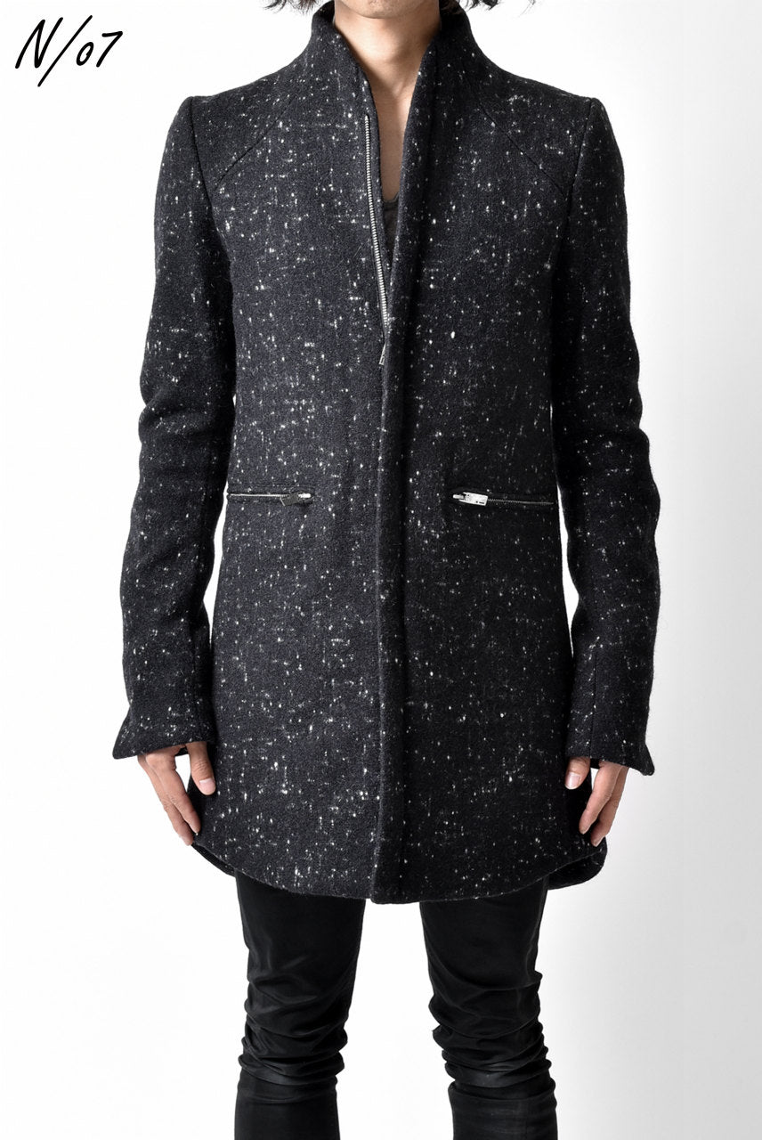 N/07 exclusive Padded Middle Coat / Wool Double-weave (SNOW BLACK)