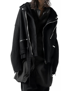 Load image into Gallery viewer, The Viridi-anne OVERFIT DOUBLE RIDERS JACKET / WOOLRING FLEECE