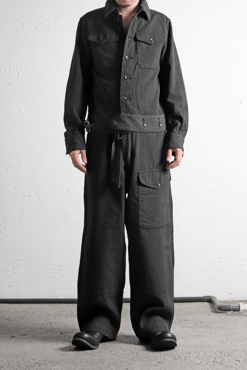 sus-sous overall set ups / W64L36 Tricotine (CHARCOAL×NAVY)