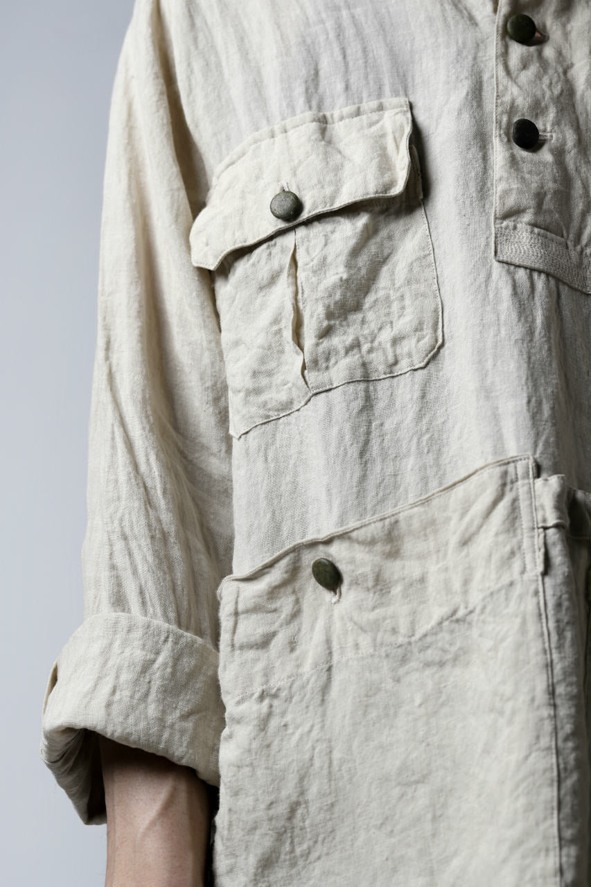 "daska ""vincent"" painter-smock shirt / light linen (ECRU)"