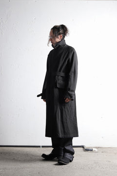 Load image into Gallery viewer, sus-sous motorcycle coat MK-2 / W64L36 Tricotine (CHARCOAL×NAVY)