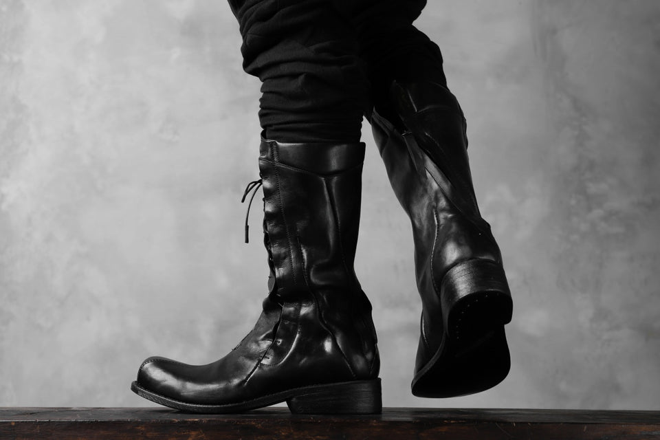 画像をギャラリービューアに読み込む, LEON EMANUEL BLANCK DISTORTION COMBAT BOOT / GUIDI OILED HORSE (BLACK)
