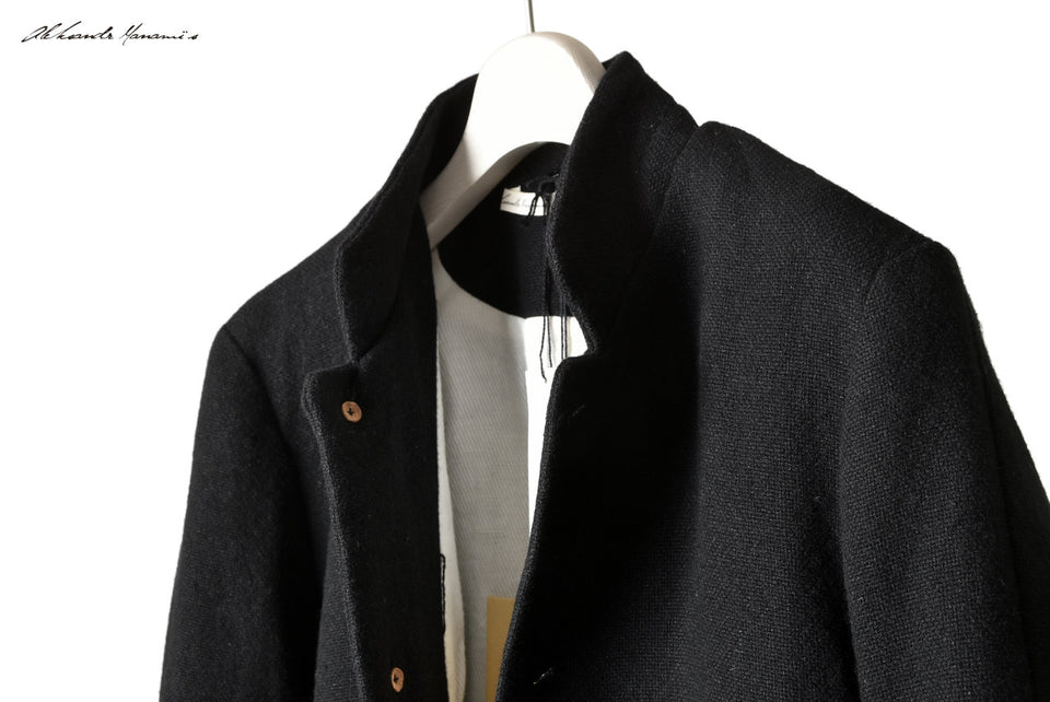 画像をギャラリービューアに読み込む, Aleksandr Manamis WOOL/LINEN WOVEN JACKET with ELBOW DETAILS