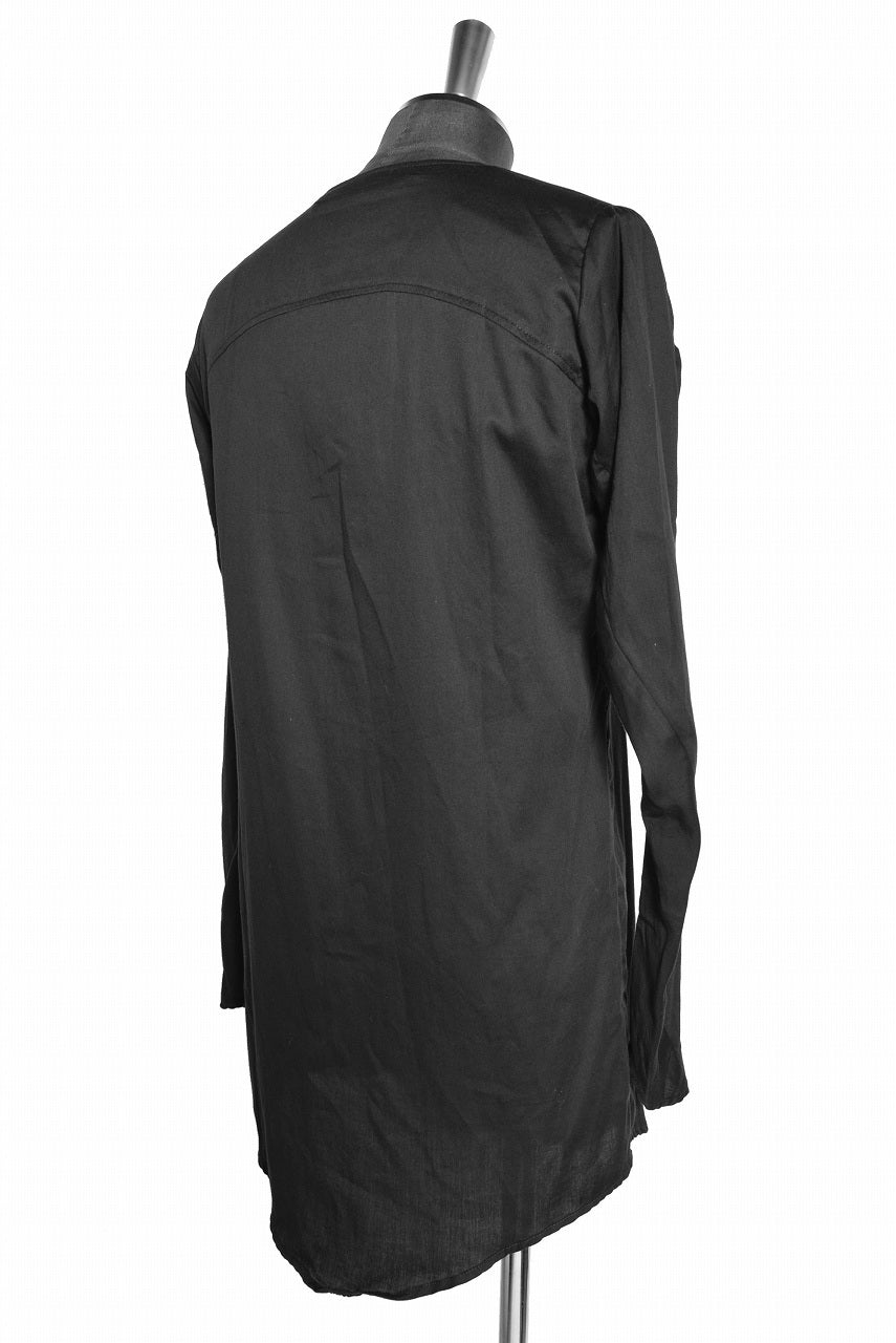 N/07 AIR SATIN COTTON MIDDLE CARDIGAN (BLACK)