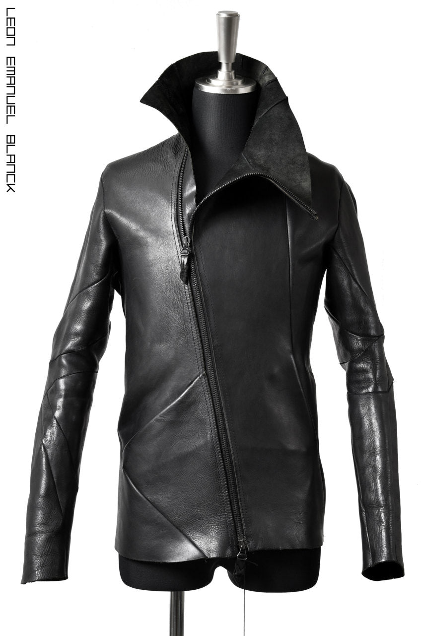 LEON EMANUEL BLANCK DISTORTION LEATHER JACKET