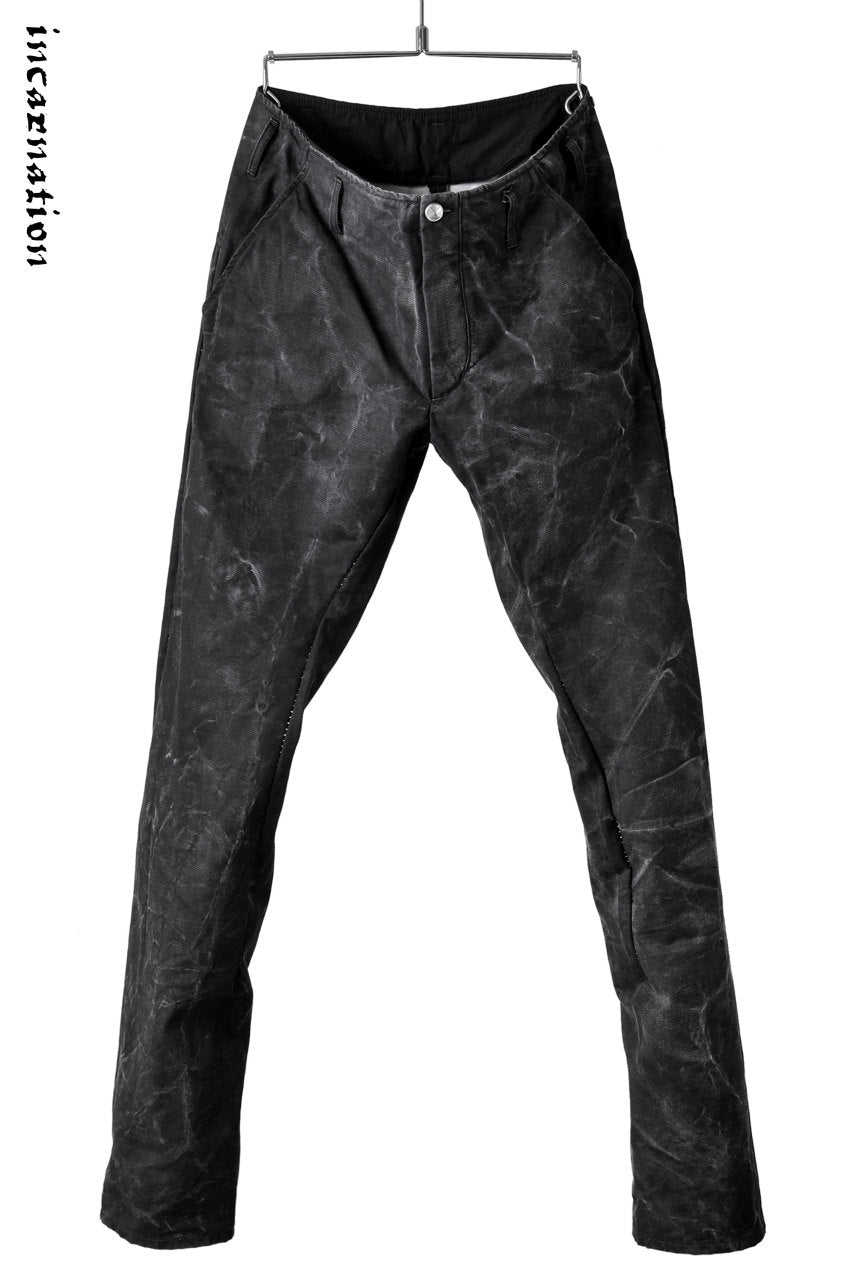 "incarnation exclusive ""OVERLOCKED"" PIGMENT COATING LONG DIRTS TROUSERS"