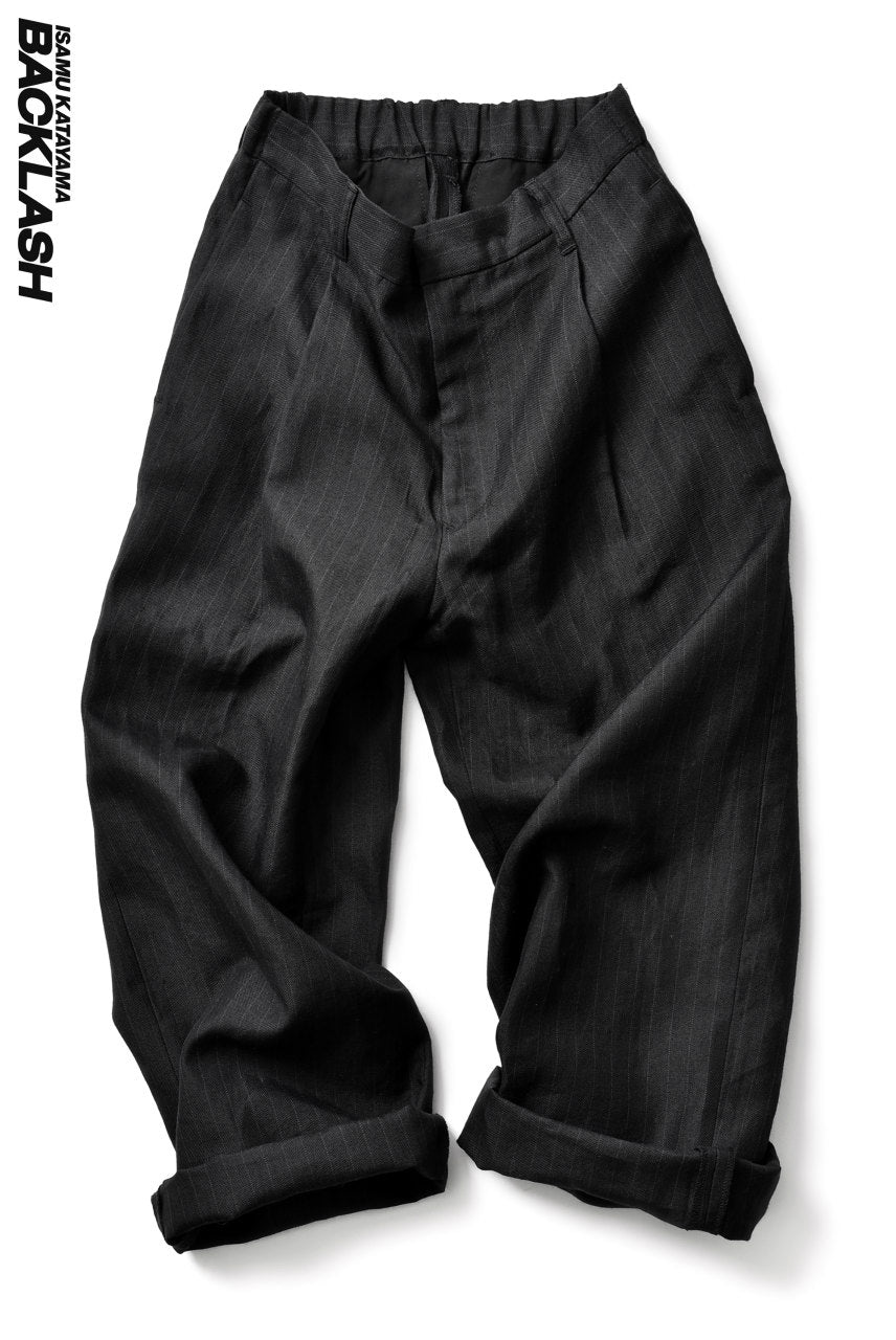 ISAMU KATAYAMA BACKLASH exclusive WIDE TROUSERS / JP-RAMIE (BLACK)