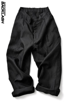画像をギャラリービューアに読み込む, ISAMU KATAYAMA BACKLASH exclusive WIDE TROUSERS / JP-RAMIE (BLACK)