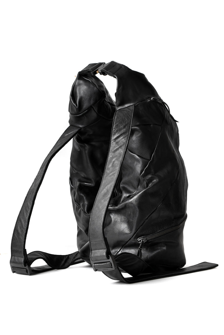 LEON EMANUEL BLANCK DISTORTION STUMP BACKPACK / GUIDI COW LEATHER (BLACK)