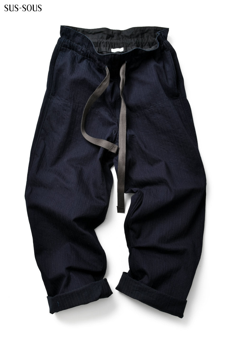 sus-sous HM trousers with zukku (INDIGO)