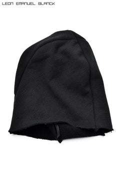 画像をギャラリービューアに読み込む, LEON EMANUEL BLANCK DISTORTION BEANIE / LOOP RIB (BLACK)