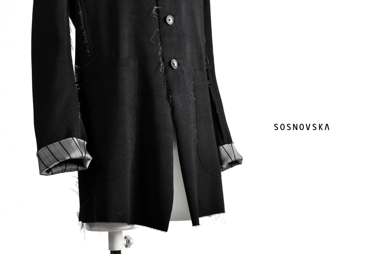 SOSNOVSKA exclusive DOUBLE UNREQUASED TRENCH JACKET (BLACK)