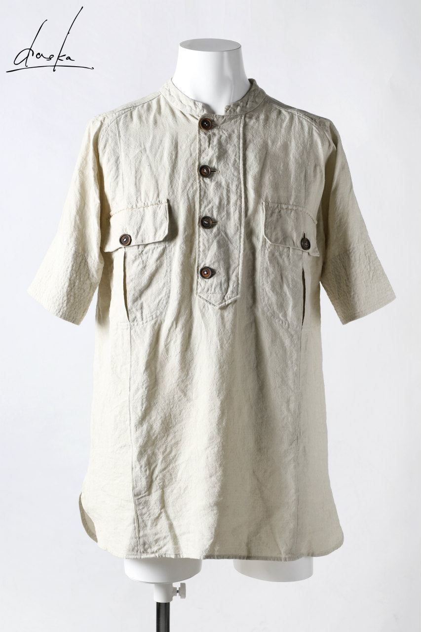 daska exclusive (tirel) cock shirt / sun-dried linen (KINARI)