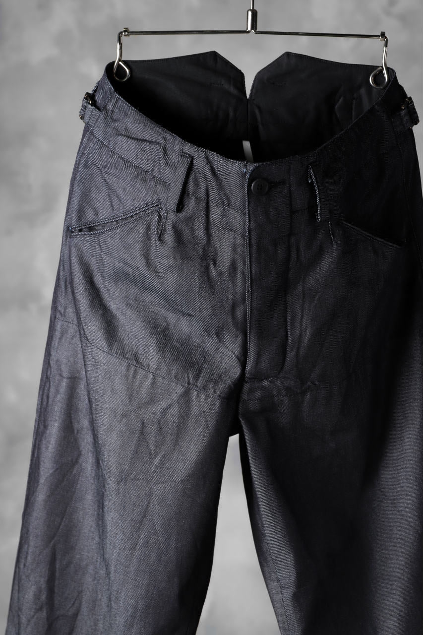 画像をギャラリービューアに読み込む, sus-sous supima denim working dress trousers (INDIGO)