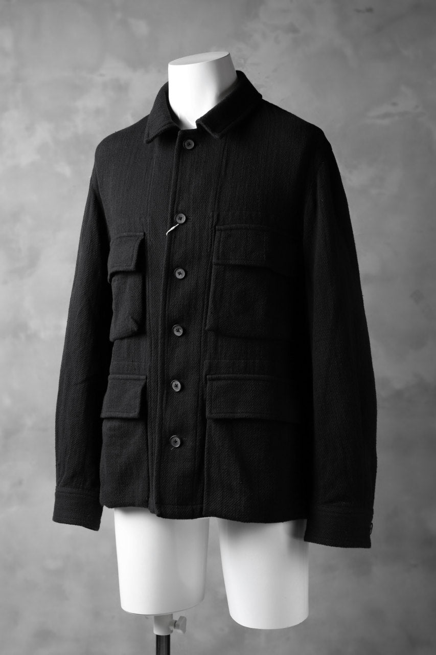 Load image into Gallery viewer, COLINA BDU JACKET / HAND-SPUN COTTON TWILL (BLACK)