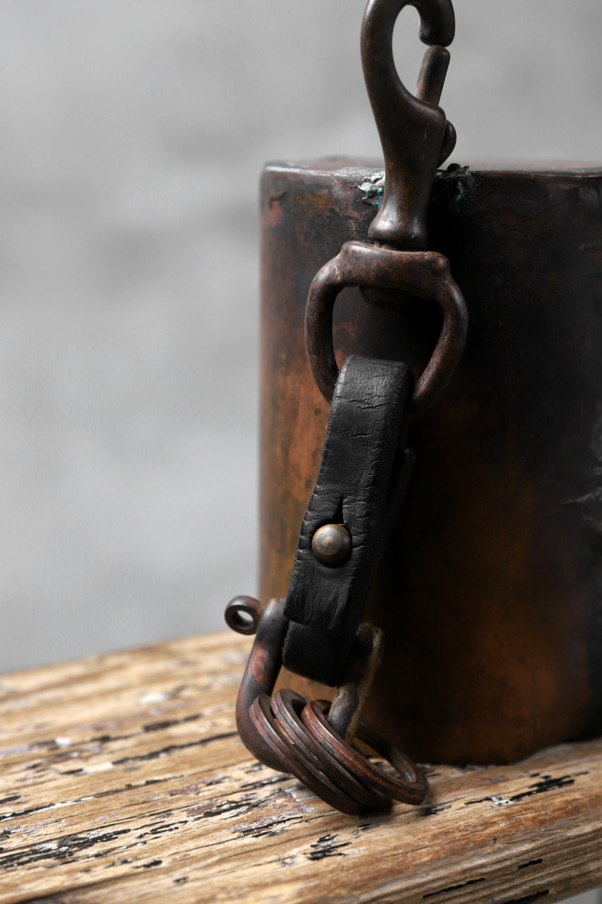 Chörds; T.2. KEY RING / HORSE BUTT LEATHER (BLACK)