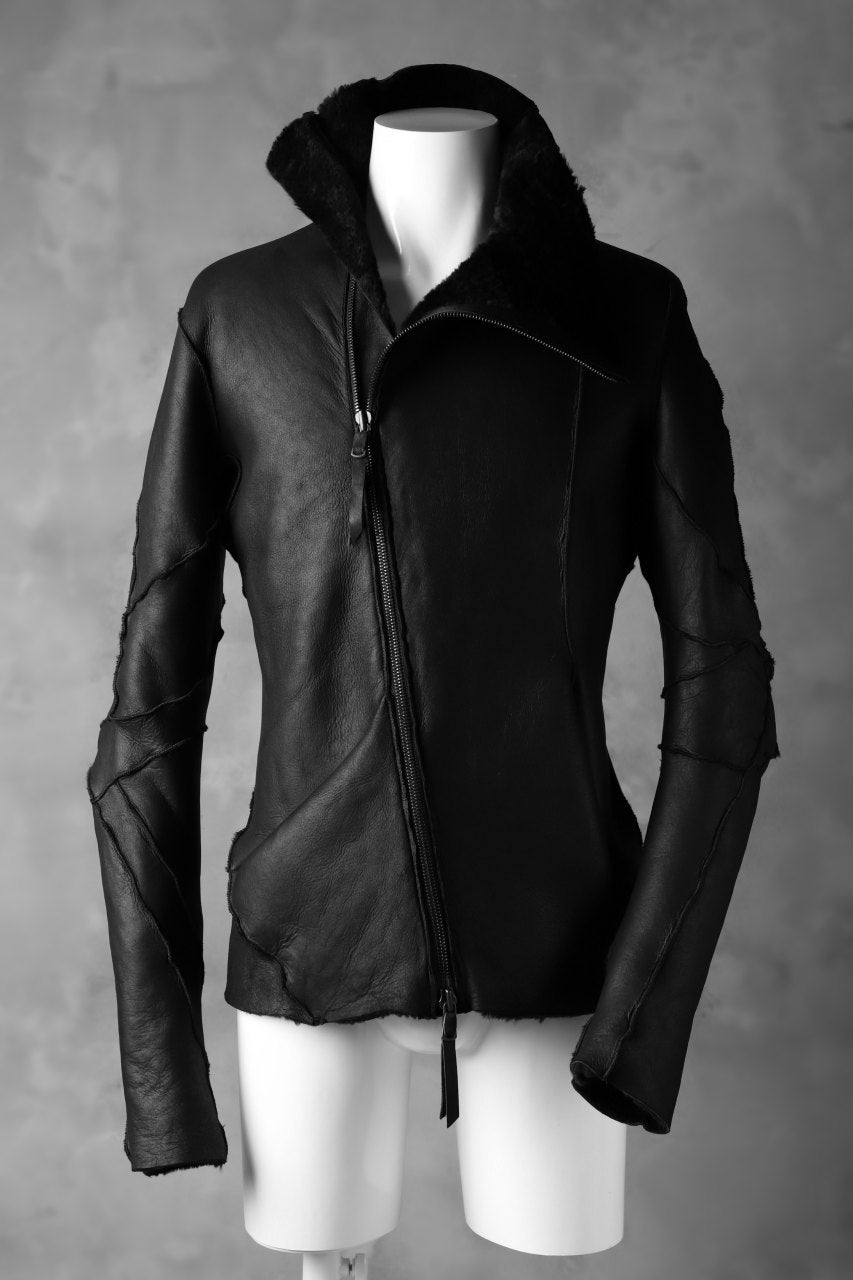 LEON EMANUEL BLANCK exclusive DISTORTION MOUTON JACKET / MERINO SHEARLING (BLACK)