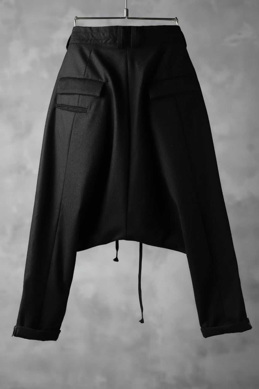 The Viridi-anne SARROUEL CROPPED PANTS / URETHANE COATING FLANNEL